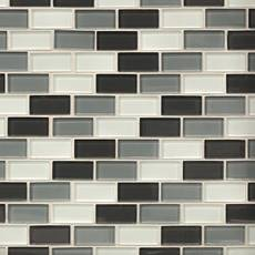 Dominica II 1 x 2 in. Brick Glass Mosaic