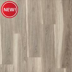 New! Walnut Greige Sapwood Rigid Core Luxury Vinyl Plank - Cork Back