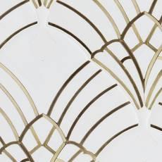 Elysees Dolo Brass Marble Waterjet Mosaic