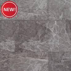 New! Stone Grey Marble Rigid Core Luxury Vinyl Tile - Foam Back