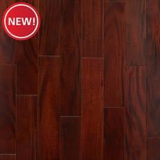 New! Lavella II Mahogany Distressed Solid Hardwood
