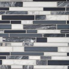 Nightfall Linear Glass Mosaic