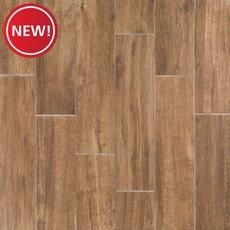 New! Burton Oak III Wood Plank Porcelain Tile