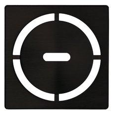 Schluter Kerdi-Drain 4in. Grate Matte Black Pure