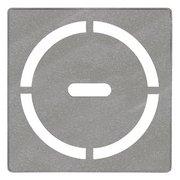 Schluter Kerdi-Drain 4in. Grate Stone Grey Pure
