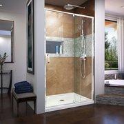 Flex Chrome Semi-Frameless Pivot Shower Door