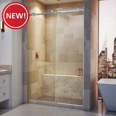 New! Enigma Air Brushed Stainless Steel Sliding Shower Door