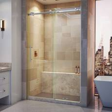 Enigma Air Brushed Stainless Steel Sliding Shower Door