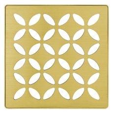 Schluter Kerdi-Drain 4in. Grate Classic Gold