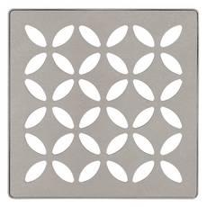 Schluter Kerdi-Drain 4in. Grate Stone Grey Floral