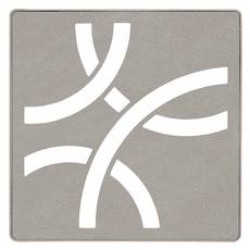 Schluter Kerdi-Drain 4in. Grate Stone Grey Curve