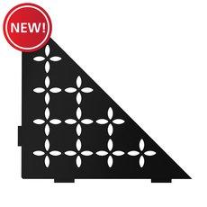New! Schluter Shelf Triangular Corner Floral Matte Black