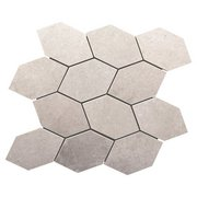 District Gray 13 in. Leaf Porcelain Mosaic