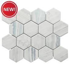 New! Portavilla 3 in. Hexagon Glass Mosaic