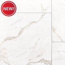 New! Bianco Gioia Polished Ceramic Tile