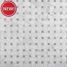 New! Cesari Bianca Basketweave Porcelain Mosaic