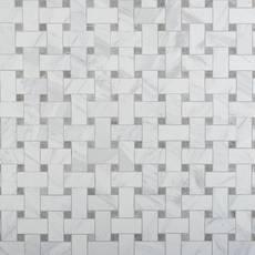 Cesari Bianca Basketweave Porcelain Mosaic