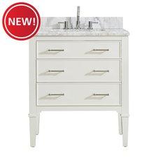 New! Arlington 31 in. Vanity with Carrara Marble Top