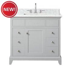 New! Aurora 37 in. Vanity with Carrara Marble Top