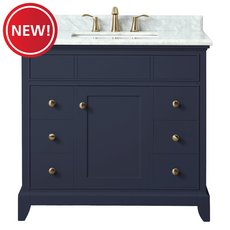 New! Nina 37 in. Vanity with Carrara Marble Top