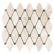 Crema Royal Clipped Diamond II Polished Marble Tile