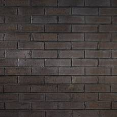 Carbon Black Thin Brick Flat