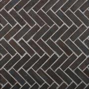 Carbon Black Thin Brick Herringbone Panel Ledger