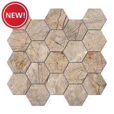 New! Bellmeade Hexagon Porcelain Mosaic