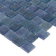 Boca Blue 1 x 1 in. Square Glass Mosaic