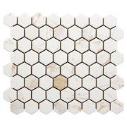 Calacatta Oro II Ceramic Hexagon Mosaic