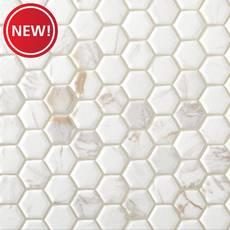 New! Calacatta Oro II Ceramic Hexagon Mosaic