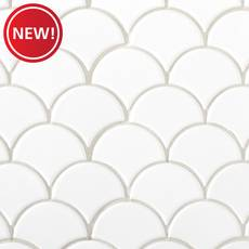 New! White Stiletto Porcelain Mosaic