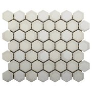 La Belle Purity 1.5 in. Hexagon Ceramic Mosaic