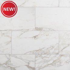 New! Treviso Bianco Polished Porcelain Tile