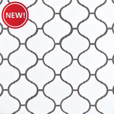 New! Lunar Porcelain Arabesque Mosaic