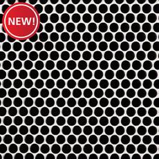 New! Matte Black Porcelain Penny Mosaic