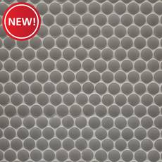 New! Mate Gray Penny Porcelain Tile