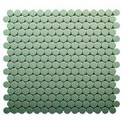Pistachio II Penny Porcelain Mosaic