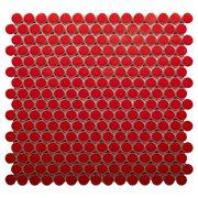 Red Hot II Porcelain Penny Mosaic
