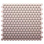 Bubblegum II Porcelain Penny Mosaic