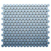 Blue Bliss II Porcelain Penny Mosaic
