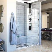 Linea Chrome Single Panel Framless Screen Shower Door