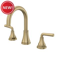 New! Tano 8 in. Widespread Brushed Gold Faucet