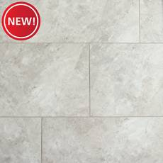 New! Gray Marble Luxury Vinyl Tile - Cork Back