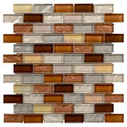Agrigento II 1 x 2 in. Brick Glass Mosaic