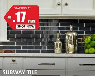 Subway Tile starting at $0.17 per piece
