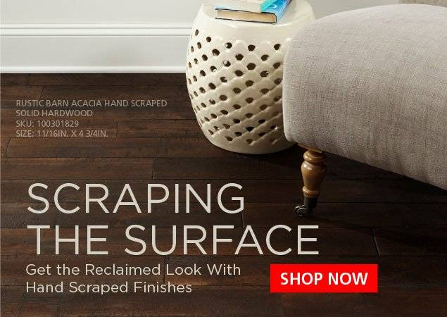 Scraping the Surface - Hand Scraped Finishes