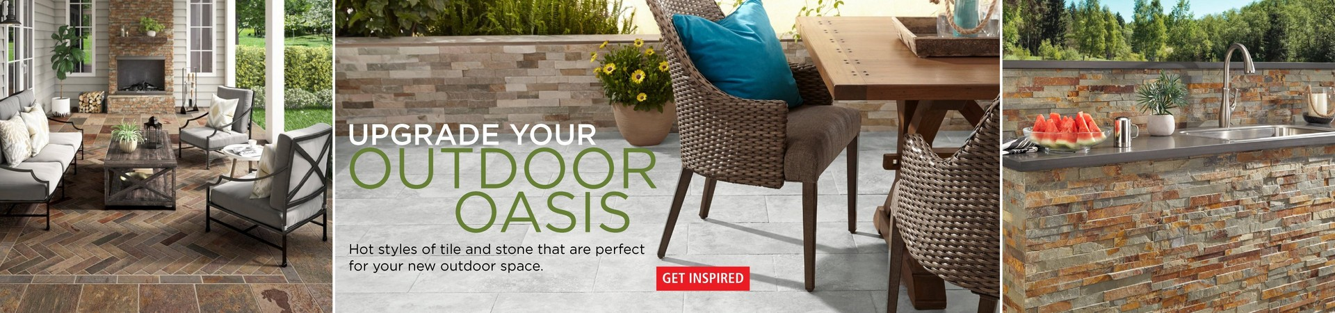 Hot styles of tile and stone that are perfect for your new outdoor space.