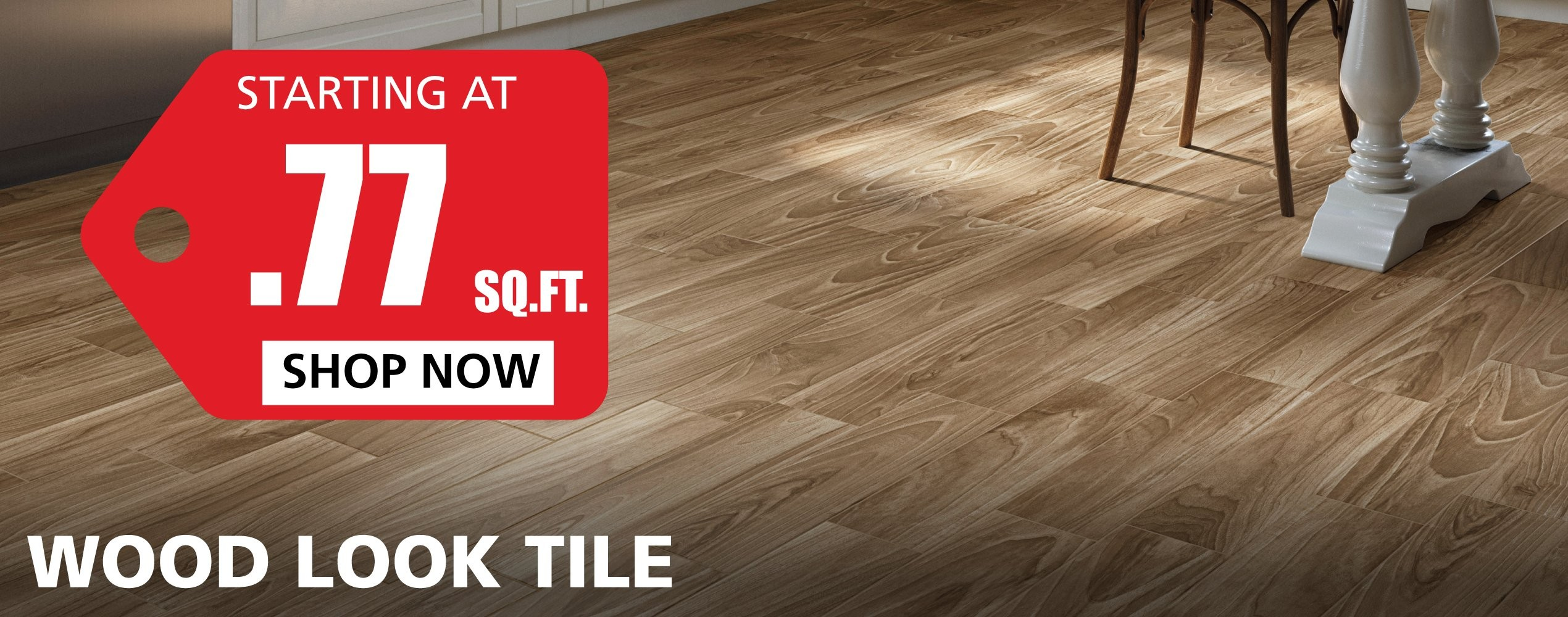 Wood-Look Tile starting at $0.77 per square foot