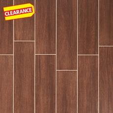 Clearance! Shenandoah Brown White Body Wood Plank Ceramic Tile